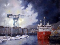 James Watt Dock Greenock - Original Painting
