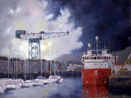 James Watt Dock Greenock - Original Painting